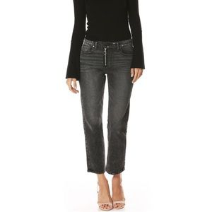 PAIGE Noella Relaxed Straight Crop / Washed Black